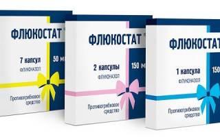 Лечение молочницы Флюкостатом, действие и схема приема
