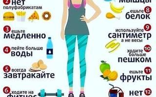 Диета для похудения женщин — меню на неделю